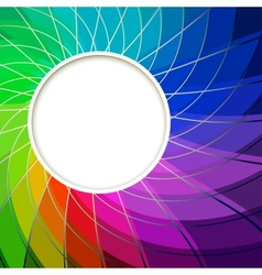 Creative Abstract Digital Light Flower with Round vector image