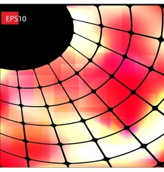 Dark abstract hi-tech red background vector image