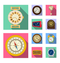 Design of clock and time sign collection vector