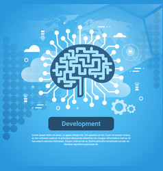 development new idea concept web banner with copy vector image