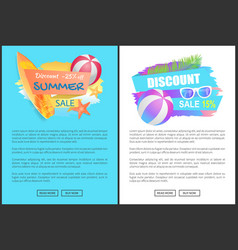 discount summer sale poster vector image