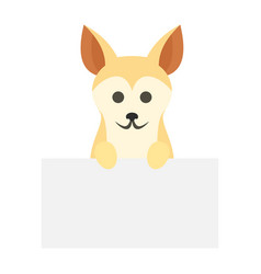 Dog on wall icon flat style vector