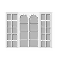 Door and front icon set of vector
