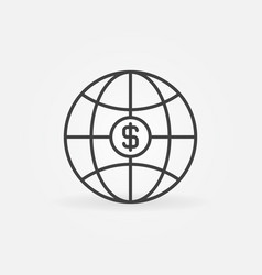 earth globe with dollar sign concept icon vector image