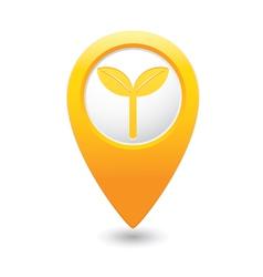 Eco2 map pointer yellow vector