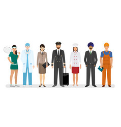 Employee and workers characters with chef vector