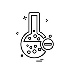 flask icon design vector image