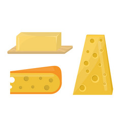 Fresh cheese variety italian dinner icon flat vector