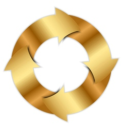 gold arrows circle vector image