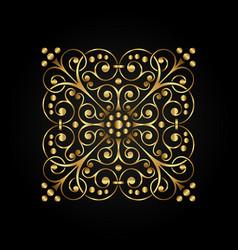 gold luxury calligraphic ornate element vector image