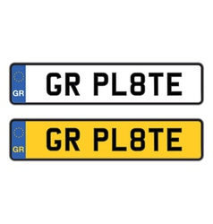 Greece number plate vector