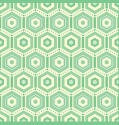 green hexagons repeat pattern background vector image