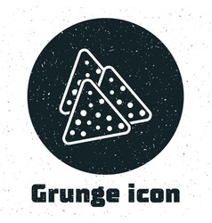 Grunge nachos icon isolated on white background vector