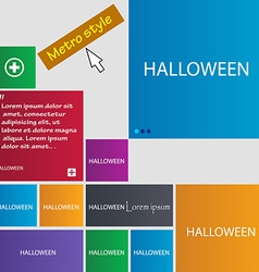 Halloween sign icon Halloween-party symbol Set of vector image