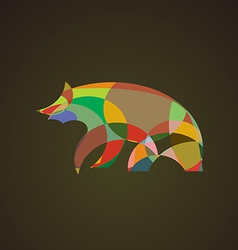 image of an bear design vector image