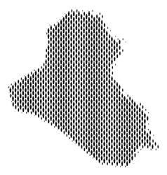 Iraq map population demographics vector