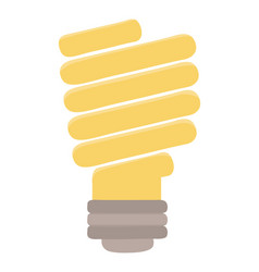 Isolated electric light bulb design vector