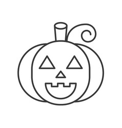 jack o lantern face halloween character icon vector image