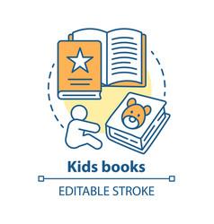 kids books concept icon children literature idea vector image