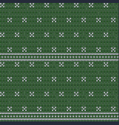 knitted green seamless pattern background vector image