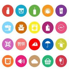 Laundry flat icons on white background vector image