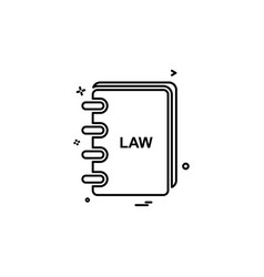 law book icon design vector image
