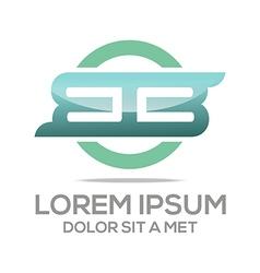 Lettering bb lettermark design vector