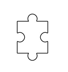 line puzzle element to game and teamwork vector image