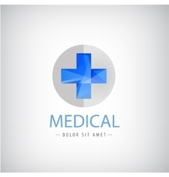 medical logo blue cross logo isolated vector image