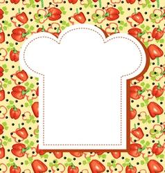 menu hat background vector image