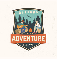 Outdoor adventure concept vector