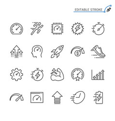 performance line icons editable stroke vector image