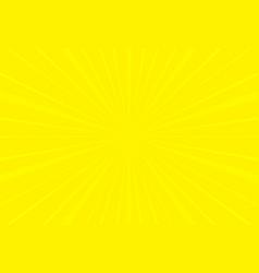 popular yellow ray sun light star burst vector image