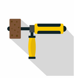 Precision grinding machine icon flat style vector