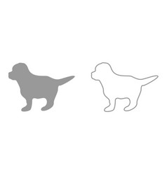 puppy it is icon vector image