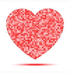 Red pixel Heart icon vector