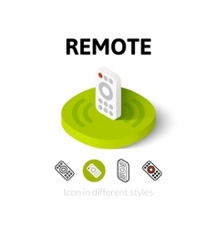 Remote icon in different style vector
