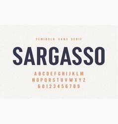 sargasso semibold san serif font alphabet vector image