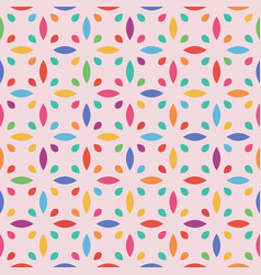 seamless flower pattern leaf and drop vector image