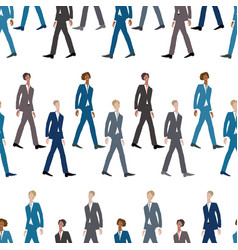 Seamless pattern sketches striding young men vector