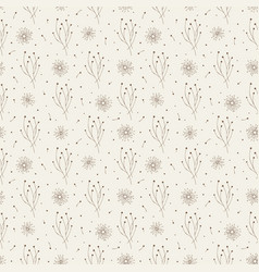 seamless pattern with stylized plants vector image