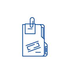 Secret archive line icon concept secret archive vector