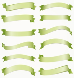 set of ribbons for your text vector image