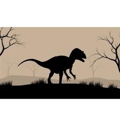 Silhouette of Tyrannosaurus vector