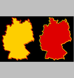 simplified map of germany outline fill and stroke vector image