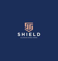 Ss shield logo vector