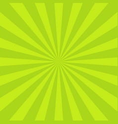 Sun rays background green radiate sun beam burst vector
