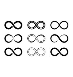 Symbol infinity icon loop endless sign vector