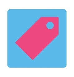 Tag flat pink and blue colors rounded button vector