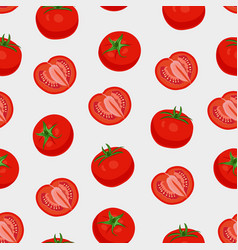 tomato vegetables seamless pattern on white vector image